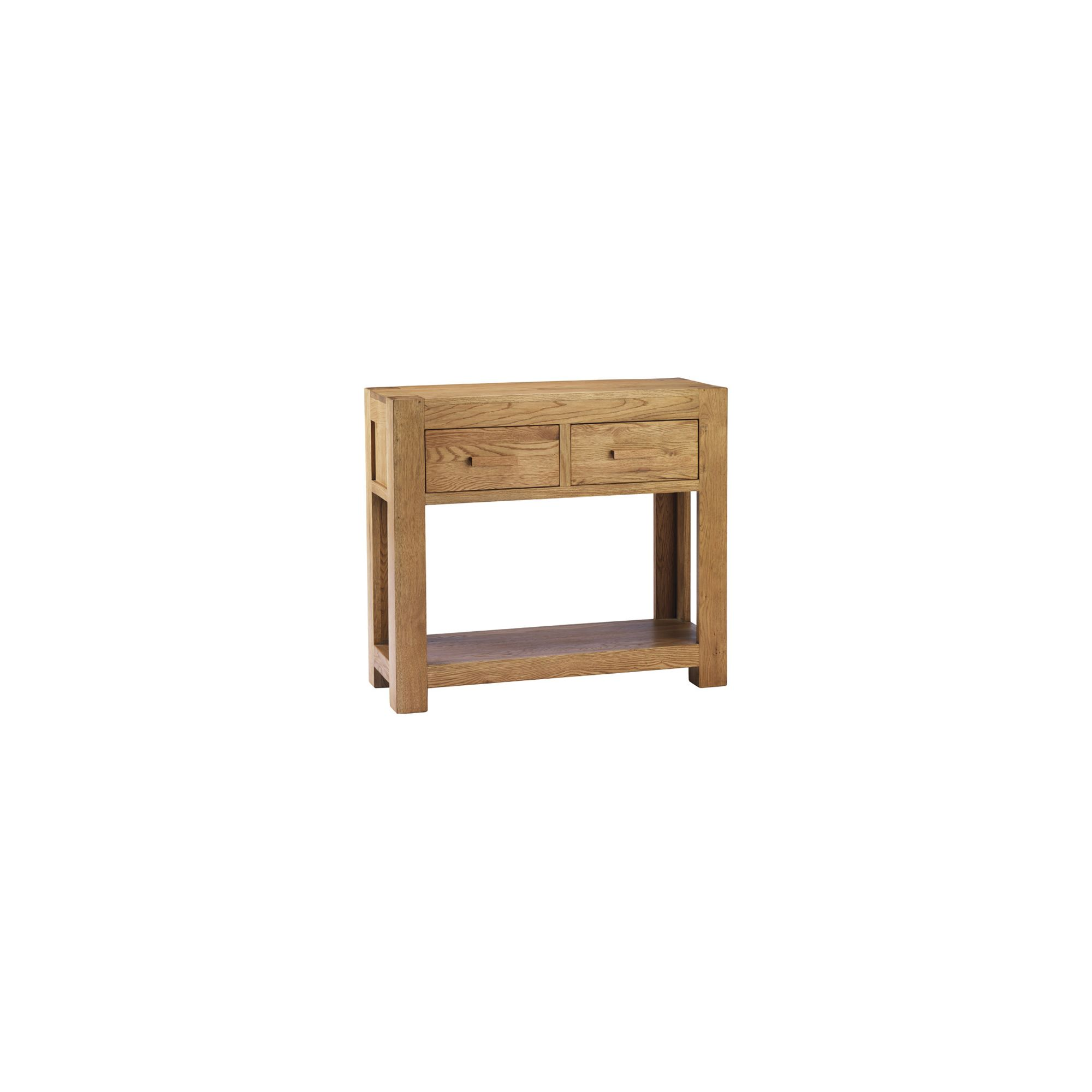Thorndon Block Console Table in Natural Matured Oak