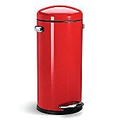 simplehuman 30 Litres Round Retro Pedal Bin - Red