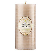 Botanicals Rustic Pillar Candle Large Almond & Chocolate
