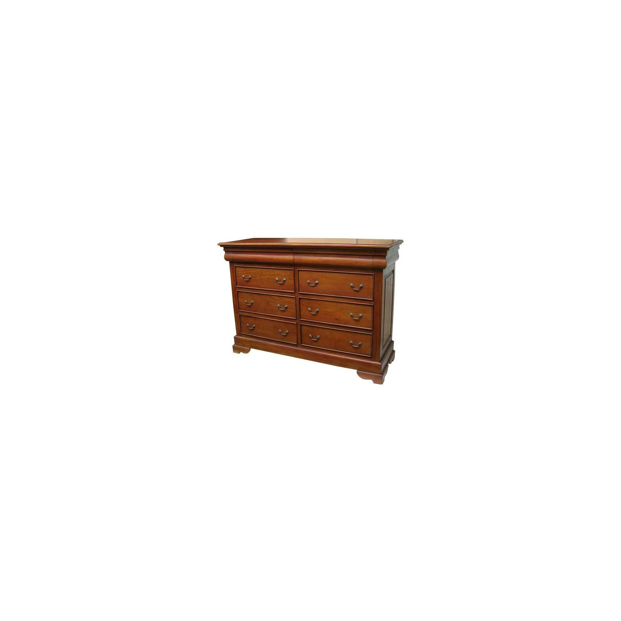 Lock stock and barrel Mahogany 8 Drawer Sleigh Chest in Mahogany - Antique White at Tesco Direct