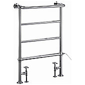 Burlington Berkeley Traditional Towel Rail, 950mm High x 600mm Wide, Chrome