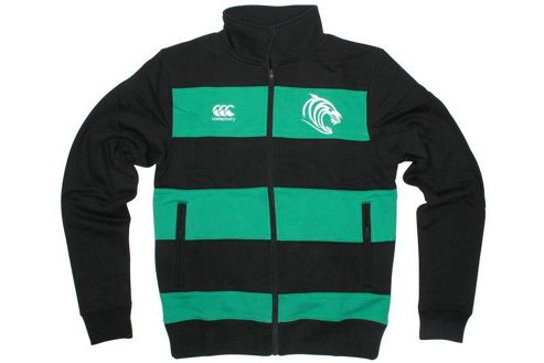 Leicester Tigers Rugby Retro Track Jacket - Black