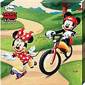 Mickey Mouse Disney's & Friends Minnie & Mickey Play In The Park Canvas Print