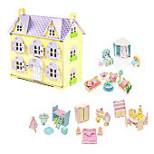 Berrybee Cottage Dolls House, Furniture and Dolls
