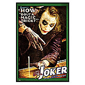 Batman The Joker Gloss Black Framed How 'bout a Magic Trick? Poster