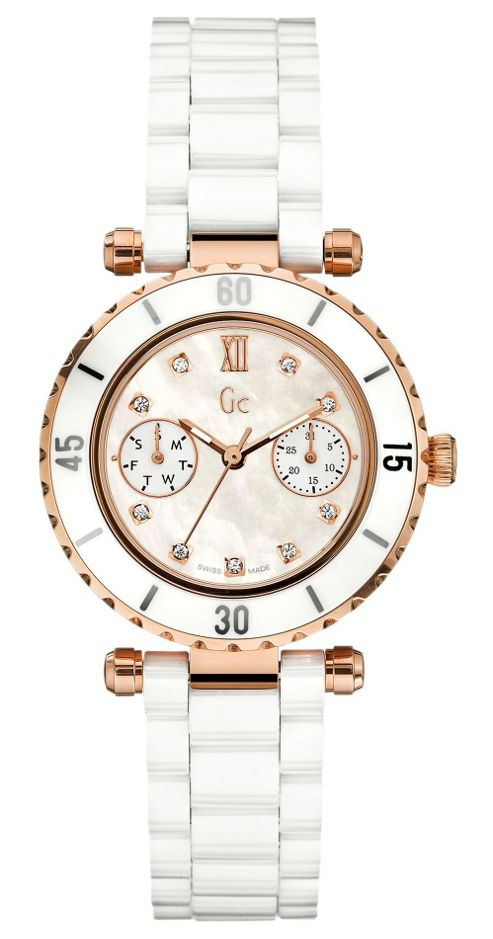 Gc Diver Chic Ladies Day/Date Display Diamond Set Watch - X46104L1S