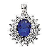 Jewelco London Rhodium-Plated Sterling Silver Cluster Pendant