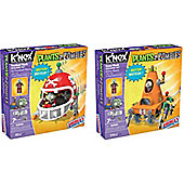 Knex Plants Vs Zombies Bundle - Le Football Mech And Cone Mech - 2 Items Supplied