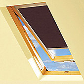 Chocolate Brown Blackout Roller Blinds For VELUX Windows (UK04)
