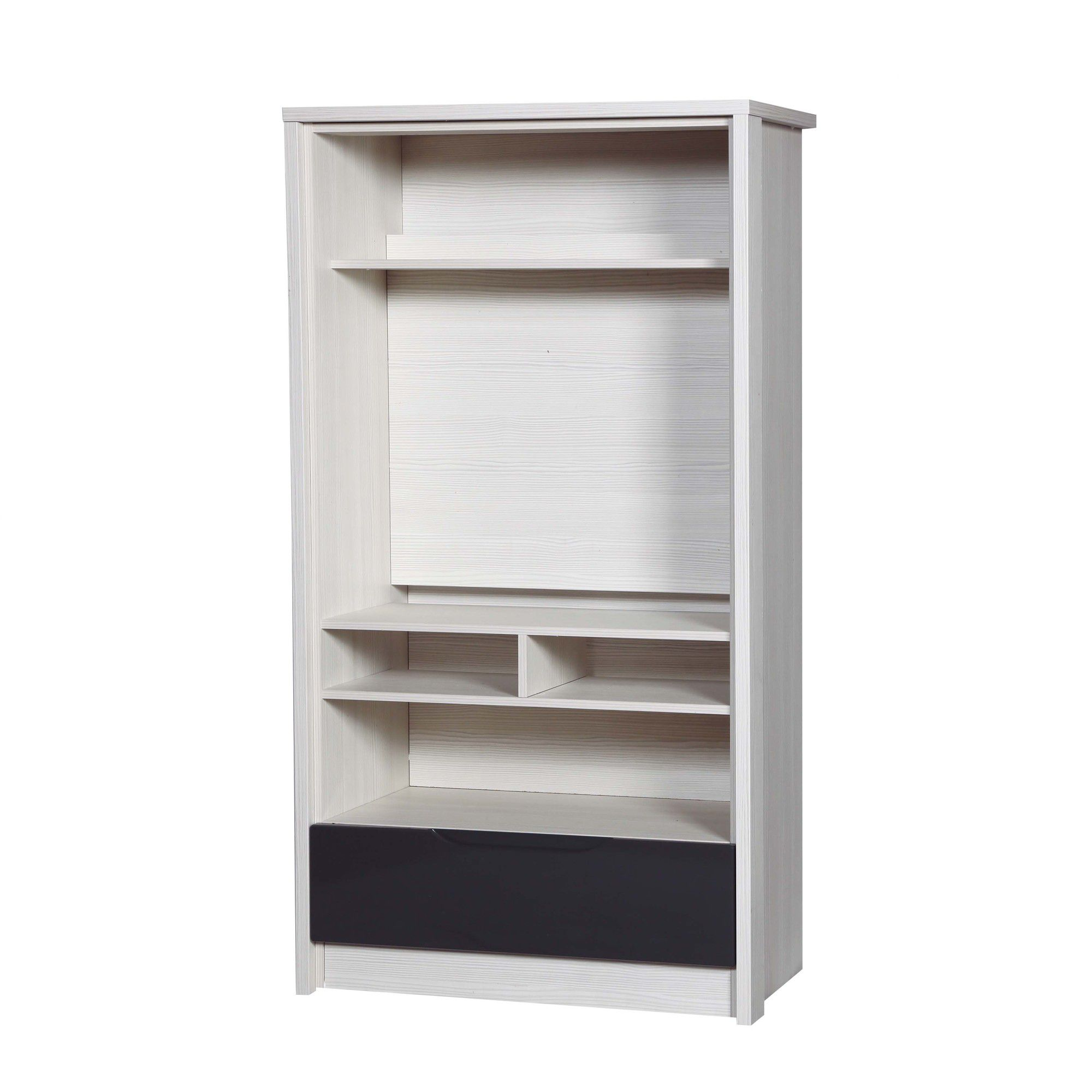 Alto Furniture Avola TV Cabinet - White Avola Carcass With Grey Gloss at Tesco Direct