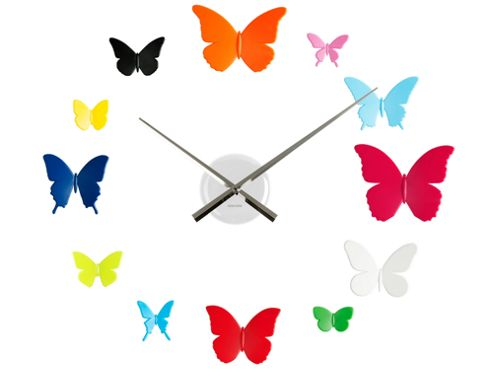Karlsson DIY Butterflies Wall Clock in Multi Colour