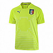 2014-15 Italy World Cup Goalkeeper Shirt (Yellow) - Kids - Yellow