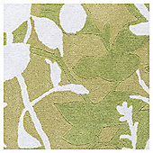 Silhouette Leaf Rug 120x170 chartreuse