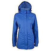 Omega Womens Waterproof Anorak Hooded Shower Proof Long Raincoat Jacket - Blue
