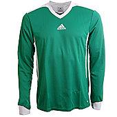 Adidas Tabela II Climalite Long Sleeved Football Shirt Jersey - Green