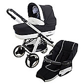 Bebecar Ip-Op Evolution Magic White Combi Pram (Black Magic)