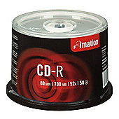 CD-R, 700MB, 52X, Spindle, 50 Pack