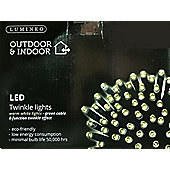 40 Multi Function LED Christmas Lights - Warm White