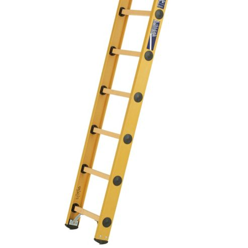 Heavy Duty 2.35m All GRP Fibreglass Single Extension Ladder