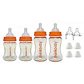 Thinkbaby BPA Free Starter Set, Orange/Natural, 0-12m