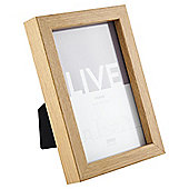 Tesco Basic Photo Frame Oak Effect 4 x 6""