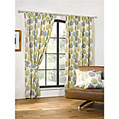 Woodland Pencil Pleat Curtains 168 x 183cm - Green