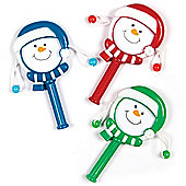 Snowman Hand Drums for Children Perfect Stocking Filler (Pack of 6)