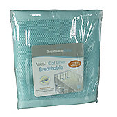 BreathableBaby 4 Sided Mesh Cot Liner - Aqua Mist