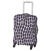 IT Luggage Frameless 4-Wheel Suitcase, Purple Wave Small