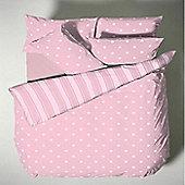 Pink Polka Dot Bedding, Single Duvet