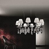 De Majo Noto Pendant - Chrome - Black