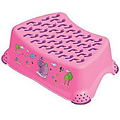 Hippo Baby Step Stool Pink