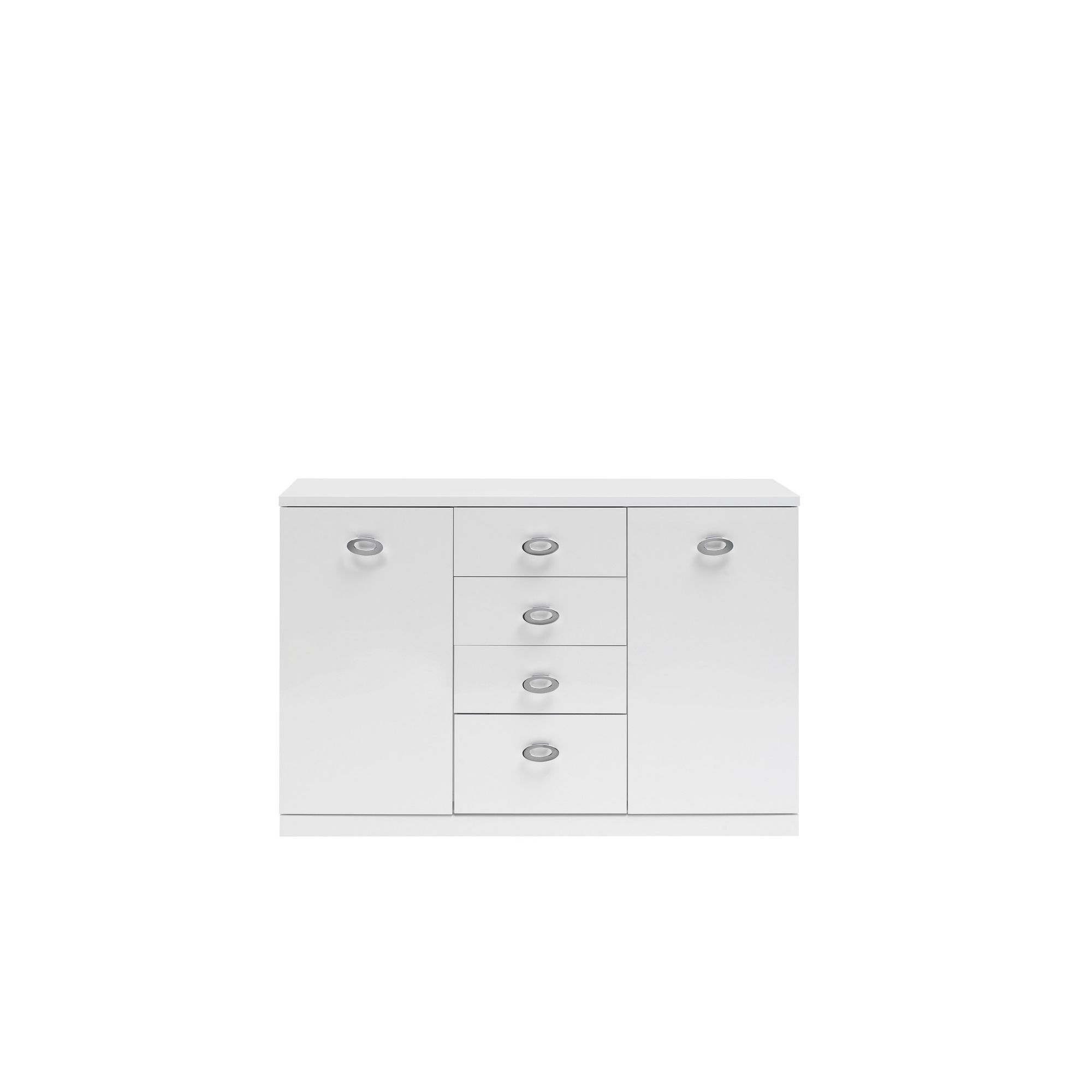 Caxton Manhattan Small 2 Door / 4 Drawer Sideboard in White Gloss at Tesco Direct