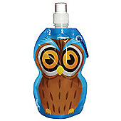 Yellowstone 375ml Kids Folding Water Bottle with Carabina Clip Owl