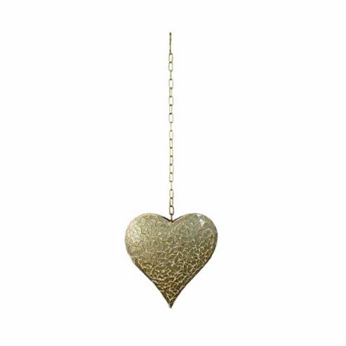buy large hanging gold mosaic heart ornament for home or. Black Bedroom Furniture Sets. Home Design Ideas