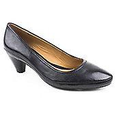 Clarks Ladies Black Denny Mellow Heeled Court Shoe - Black