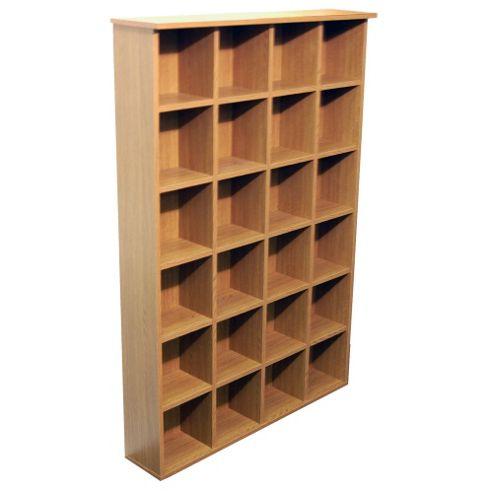 CD DVD Blu-ray Media Storage Shelves - Oak