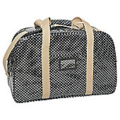 Tesco Large Holdall, Black Polka Dot