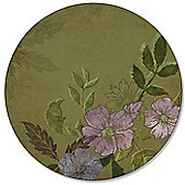 Pimpernel Autumn Green Round Placemats, Set of 4