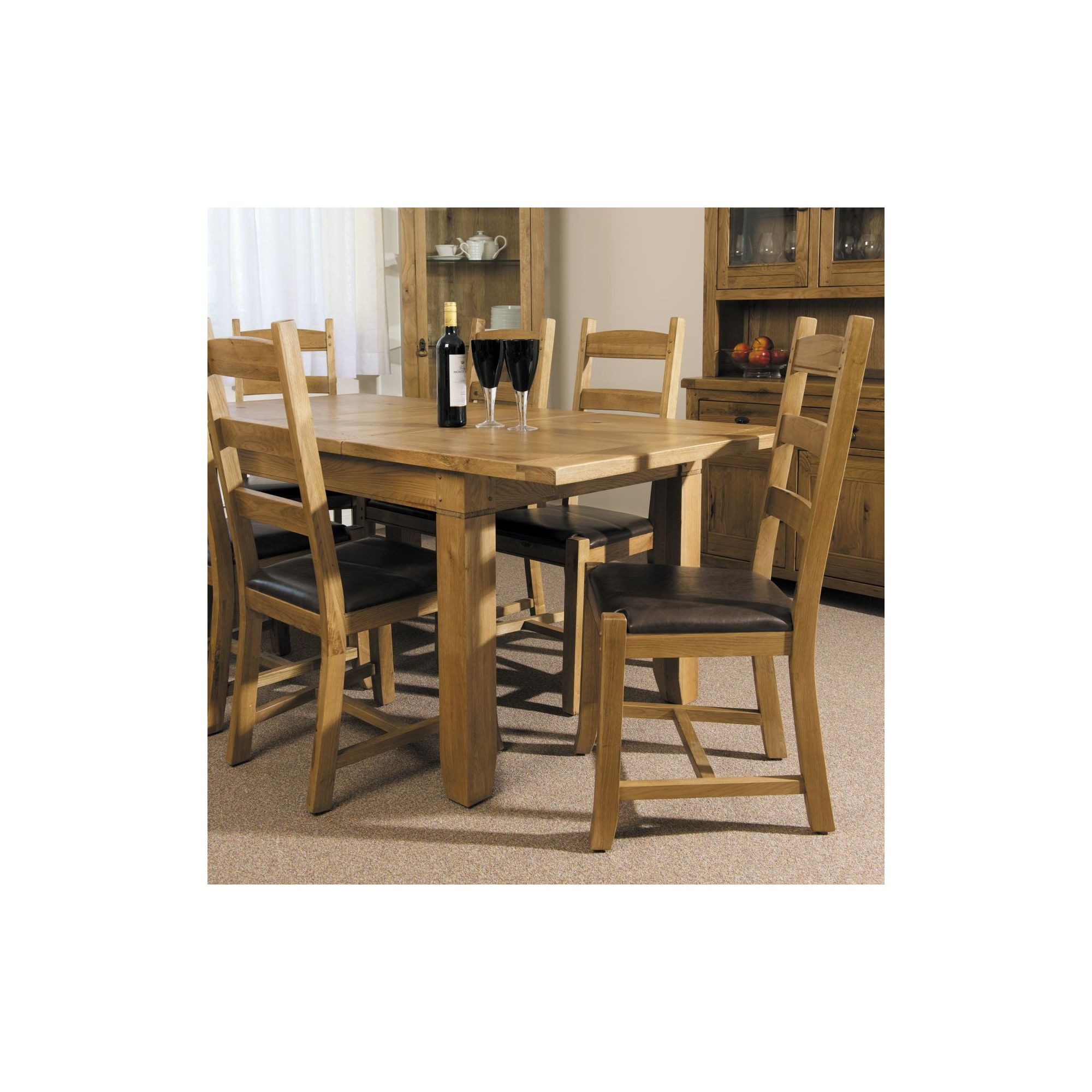 Kelburn Furniture Veneto 7 Piece Rustic Oak Dining Collection