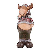 Large Standing Terracotta Christmas Reindeer Ornament