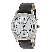 RNIB Small Radio Controlled Talking Watch - Leather Strap