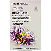 Higher Nature Passion Flower Relax Aid 30 Tablets