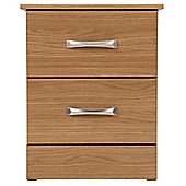 Tenby 2 Drawer Bedside Table, Oak
