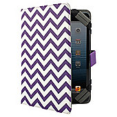 "Tesco Universal Tablet Case 7 to 8""(for Hudl, Kindle Fire/HD, iPad Mini, Samsung Tab) - Purple Chevron"