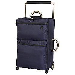IT Luggage World's Lightest 2-Wheel Suitcase, Evening Blue Medium