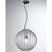 Siru Vecchia Murano One Light Pendant - Red Layered