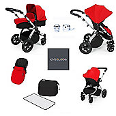 ickle bubba Stomp V2 AIO/Buggy Lights/Safety Mosquito Net Travel System - Red