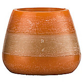 Rustic Bowl Candle Orange , Medium