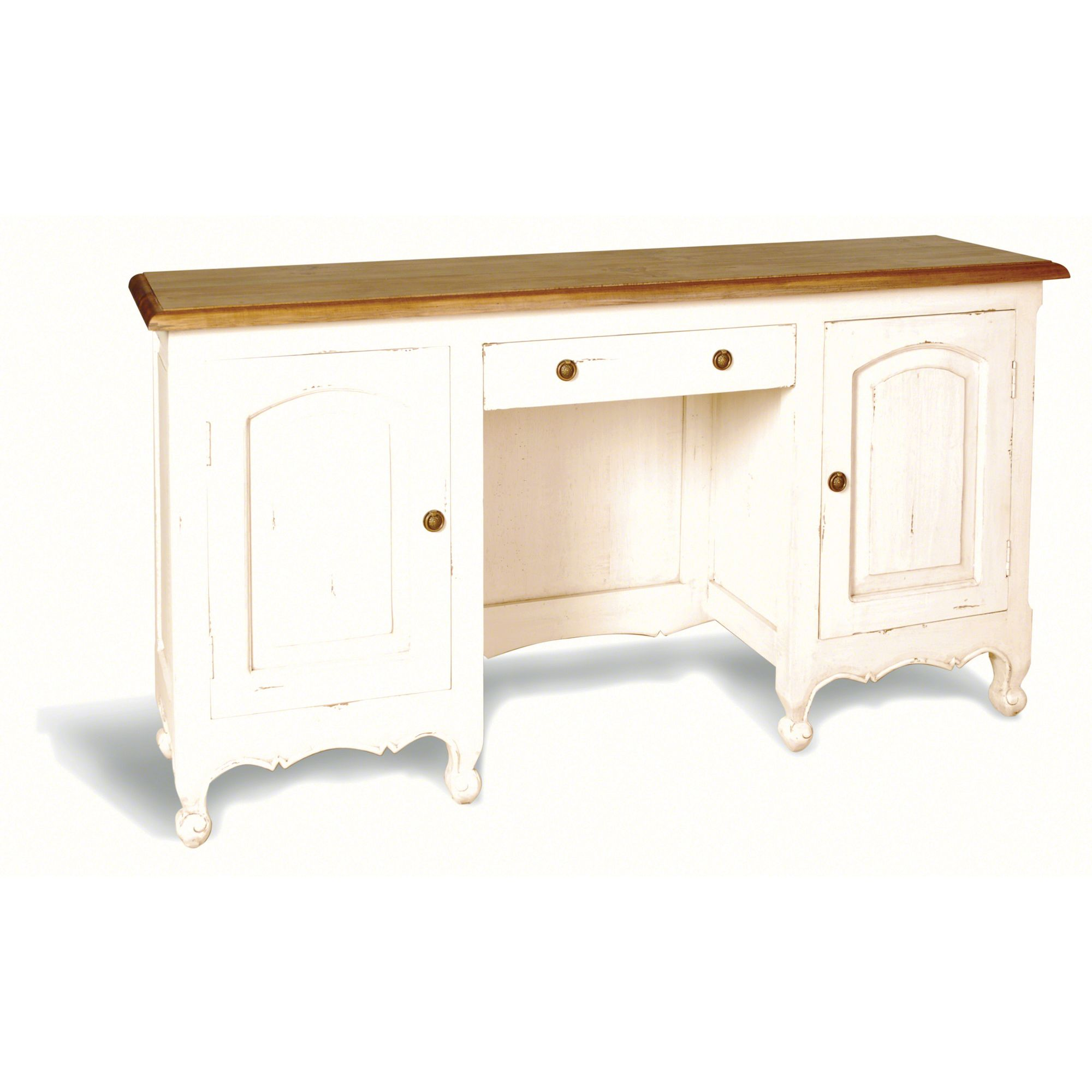 Oceans Apart Painted Provence Large Vanity Table in Antique White at Tesco Direct